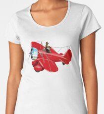 Cartoon retro airplane Women's Premium T-Shirt