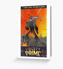 Liberty Prime (retro) Greeting Card