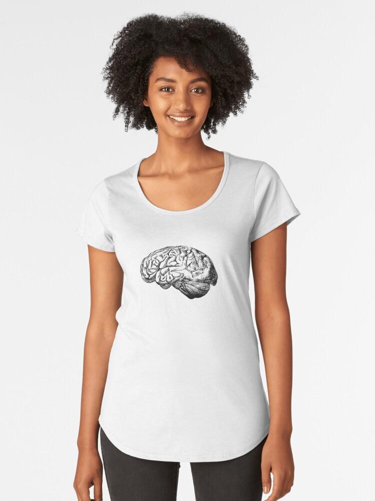 Camisetas premium para mujer «Anatomía del cerebro» de StilleSkygger ...