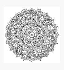 Black And White Mandala Pattern Yoga Abstract Print Design Photographic Print