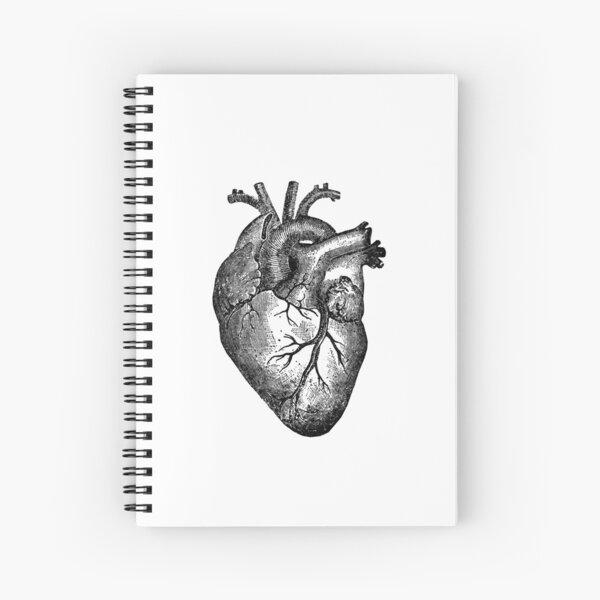 Vintage Heart Anatomy Spiral Notebook