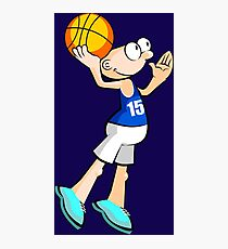 Basketball player - cartoon style Photographic Print