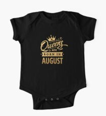 Queens are Born in August - Gold on Black Kids Clothes