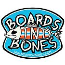 BoardsNBones Logo Sticker- Blue, White and Red by BoardsNBones
