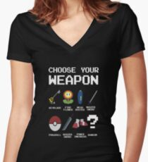 Chose Your Weapon - All Nintendo Women's Fitted V-Neck T-Shirt