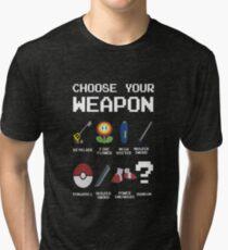 Chose Your Weapon - All Nintendo Tri-blend T-Shirt