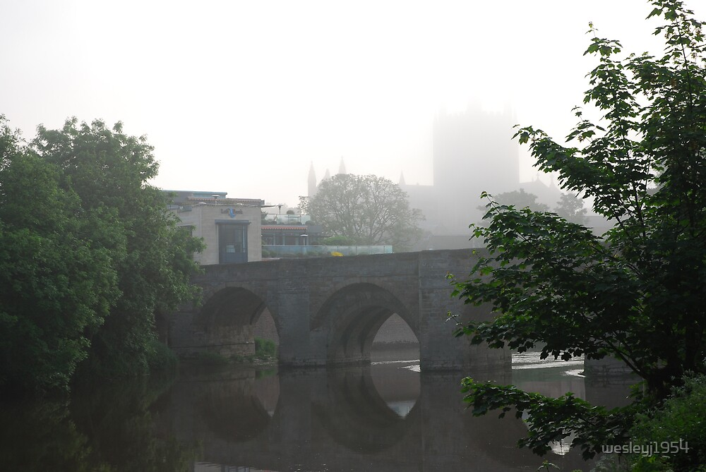 The old bridge on the river Wye by wesleyj1954