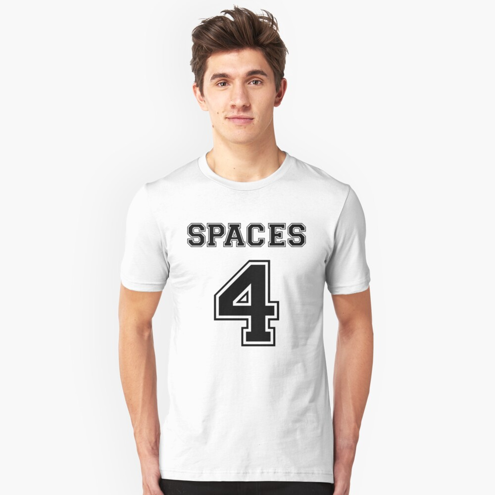 Spaces 4 - How Real Programmers Indent Code - Black Text Slim Fit T-Shirt