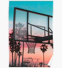 GTA Basketball Sunset Poster