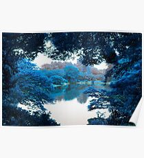 Colour effected nature, forest, lake photography in Tokyo Poster