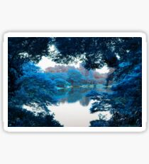 Colour effected nature, forest, lake photography in Tokyo Sticker