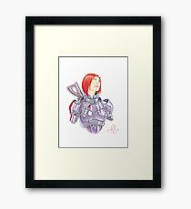 Mass Effect Commander Shepard FemShep Fan Art Bust Framed Print