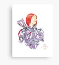 Mass Effect Commander Shepard FemShep Fan Art Bust Canvas Print