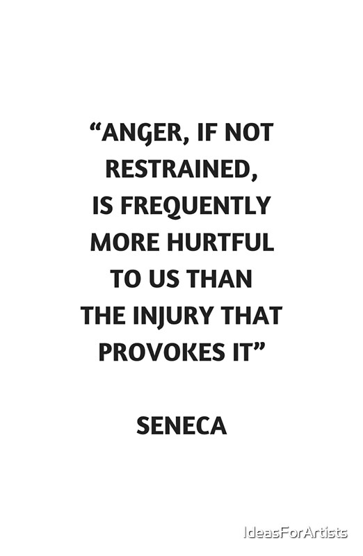 seneca on anger Seneca: to novatus on anger (excerpts) book i, chapter 5 [i 5 1] hitherto we have inquired what anger is, whether it belongs to any other creature than man, how it .