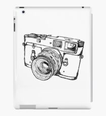 Rangefinder Style Camera Drawing iPad Case/Skin
