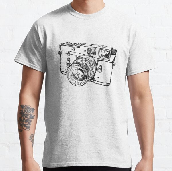 Rangefinder Style Camera Drawing Classic T-Shirt