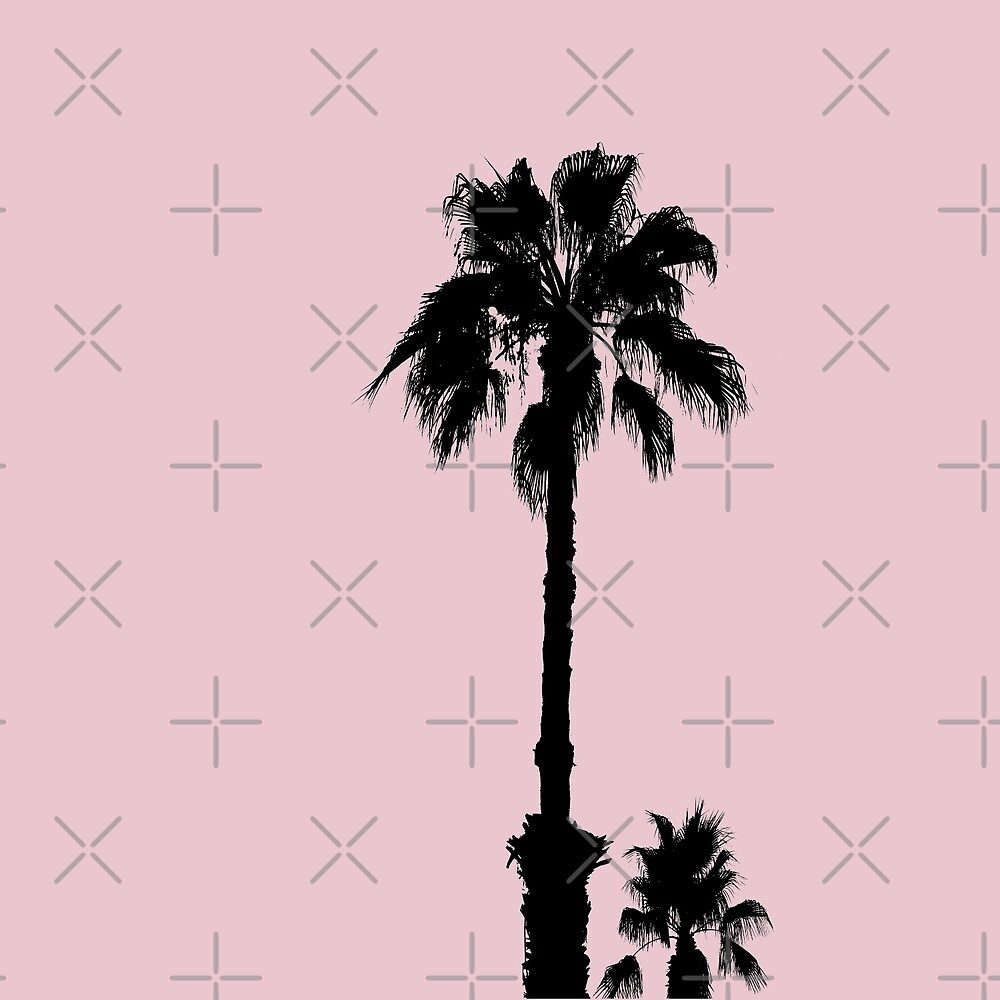Palm Tree Silhouettes On Pink by by-jwp