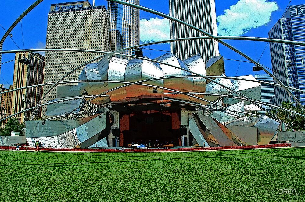 CHICAGO - MILLENNIUM PARK BANDSHELL by DRON