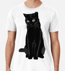 Schwarze Katze Premium T-Shirt
