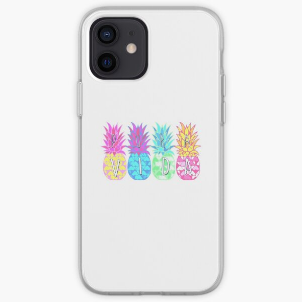 Pura Vida Pineapple iPhone Soft Case