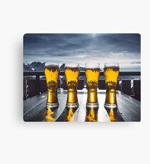 Beer Glasses  Canvas Print