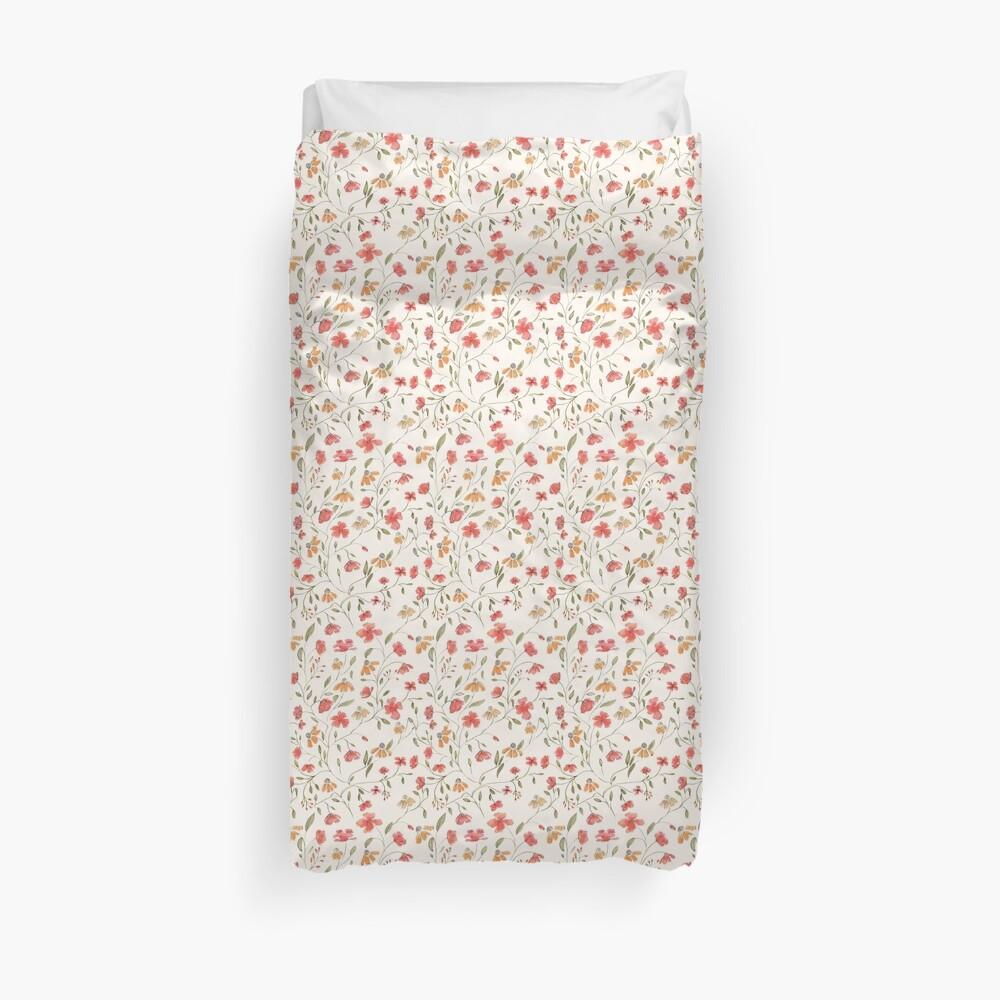 Vintage floral print Duvet Cover