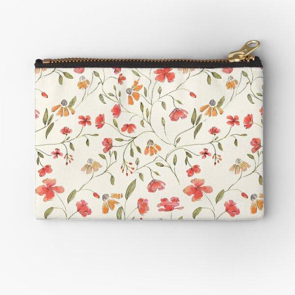 Vintage floral print Zipper Pouch