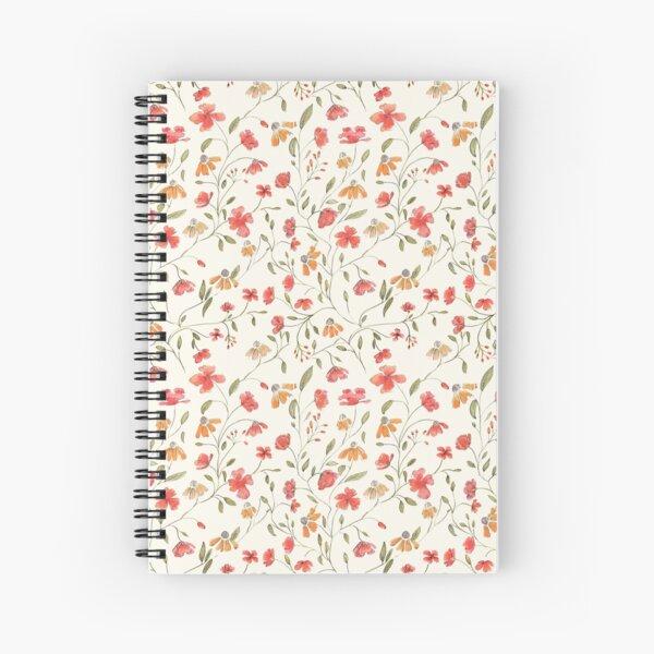 Vintage floral print Spiral Notebook