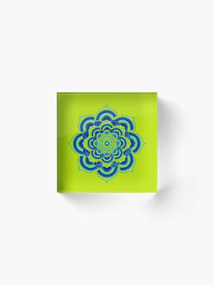 Alternate view of Namaste Olive version Acrylic Block