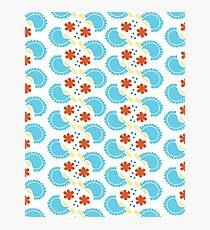 Cute blue pattern Photographic Print