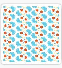 Cute blue pattern Sticker