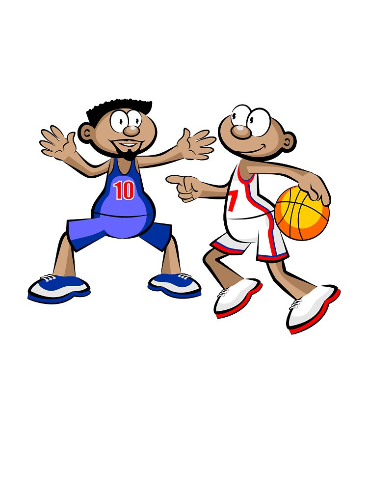 Basketball Players Cartoon Style Kids T Shirt By Megasitiodesign Redbubble