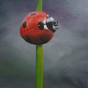 ladybug by sandradamenart