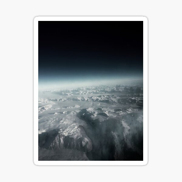 Greenland from Air Sticker