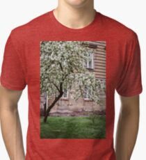 Spring Tree With White Blossoms Tri-blend T-Shirt