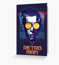 Retro Man Greeting Card