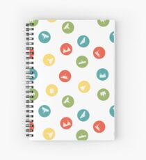 Temples Dot the Earth Spiral Notebook