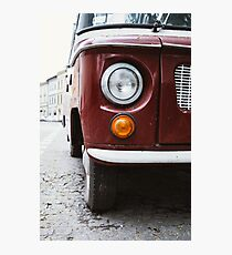 Red Car Closeup Photographic Print