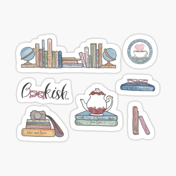 Book Lovers' Sticker Pack  Sticker