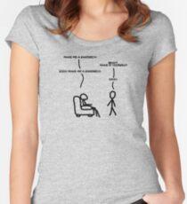 Sudo make me sandwich Women's Fitted Scoop T-Shirt