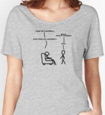 Sudo make me sandwich Women's Relaxed Fit T-Shirt