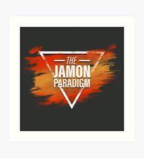 Jamon Paradigm Condensed Logo Art Print