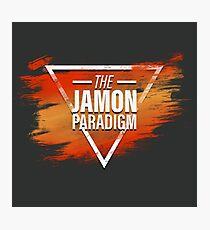 Jamon Paradigm Condensed Logo Photographic Print