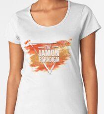 Jamon Paradigm Condensed Logo Women's Premium T-Shirt