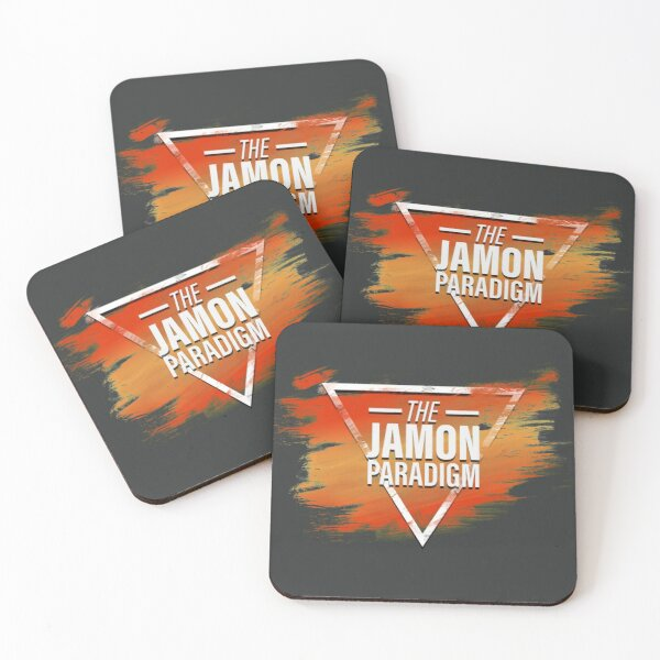 Jamon Paradigm Condensed Logo Coasters (Set of 4)