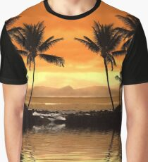 Tropical Seascape Graphic T-Shirt