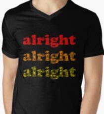 Alright Alright Alright - Matthew McConaughey : Black Men's V-Neck T-Shirt