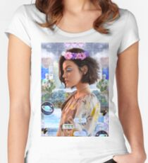 Lucy Hale Vaporwave Women's Fitted Scoop T-Shirt