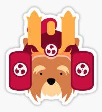 Cute Samurai Dog Sticker