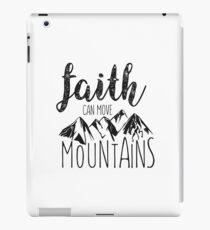 Faith Can Move Mountains - Matthew 17:20 - Bible Verse iPad Case/Skin